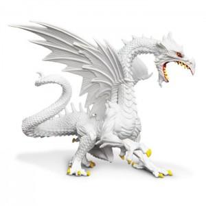 Мерцающий в темноте снежный дракон Safari Ltd 10120