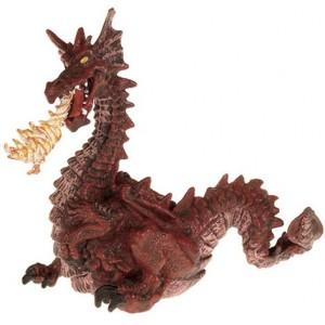 Красный дракон с пламенем Papo 39016