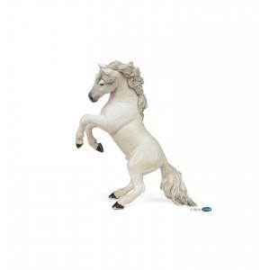 Белый конь Papo 51521 во свече