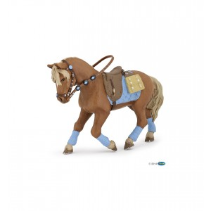 Лошадь Papo 51544 в голубой амуниции