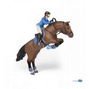 Прыгающая лошадь с всадницей Раро 51560