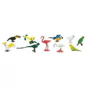 Экзотические птицы в тубусе Safari Ltd 680404