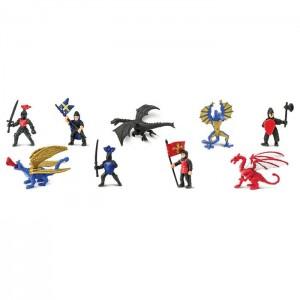 Рыцари и драконы в тубусе Safari Ltd 686104