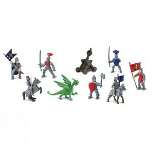 Рыцари и драконы в тубусе Safari Ltd 699904