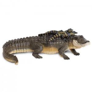 Аллигатор с детенышами XL Safari Ltd 259629