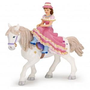 Наездница в шляпе на лошади Papo 39074