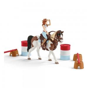Наездница-ковбой с набором для верховой езды Schleich 42441