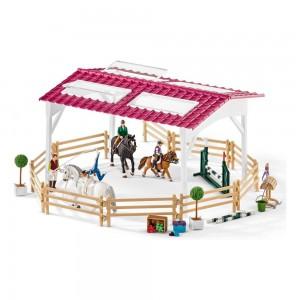 Школа верховой езды со всадниками и лошадьми Schleich 42389