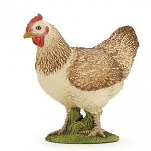 Красная курица Papo 51159