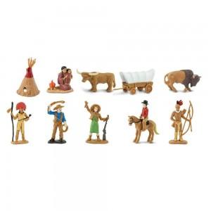 Набор фигурок Дикий запад в тубусе Safari Ltd 680904