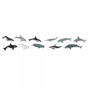 Набор киты и дельфины в тубусе Safari Ltd 694704