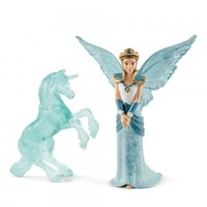 Эльфийка Айела и ледяная статуя единорога Schleich 70587
