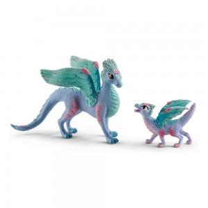 Цветочный дракон с детенышем Schleich 70592
