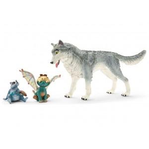 Волк Лайкос, дракончик Нугур и енот Пиу Schleich 70710