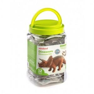 Набор фигурки Динозавры в контейнере Miniland 25610