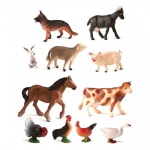 Набор фермерских животных в контейнере Miniland 27420