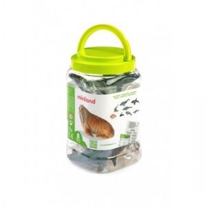 Набор морских животных в контейнере Miniland 27460