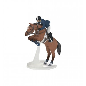 Лошадь в прыжке с всадником Papo 51562
