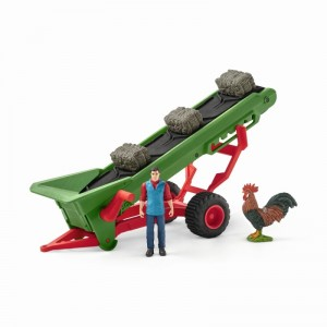 Фермер с конвейером для сена Schleich 42377
