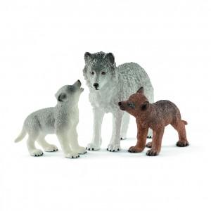 Волчица с волчатами Schleich 42472